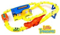 Little Treasures Dinosaur Hurricane King Race Track Series With Repair Garage Store (Multicolor)