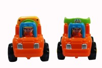 Parv Collections Unbreakable Concrete Mixer & Truck (Orange, Green)