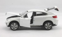 Little Grin BMW X6 Die Cast Replica Model Car 1:32 Scale Gift Toy For Kids(White) (White)