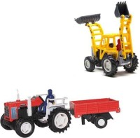 A M Enterprises Construction Vehicle - Set Of 2 (Multicolor)