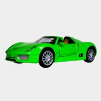 AdraxX 1:28 Scale Die Cast Convertible Sports Car Toy Collector Model (Green)
