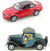 I-Gadgets Kinsmart BMW M3 Coupe And Ford 1932 (Red, Green)