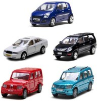 A M Enterprises Multicolor Plastic Combo Of Ritz, Bolero, Scorpio, Innova & Skoda Octavia Cars - Set Of 5 (Multicolor)