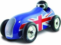 Vilac Push And Pull Baby Toy Sports Car, Union Jack (Multicolor)