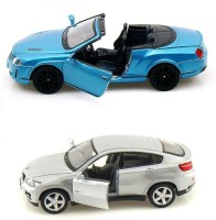 I-Gadgets Kinsmart Bentley Continental 2010 And Bmw X6 Silver (Blue, Silver)