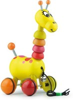 Vilac Push And Pull Baby Toy, Paf The Giraffe (Multicolor)
