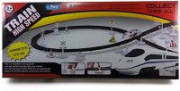 Turban Toys High Speed Metro With Flyover Track Battery Operated Train (Silver, Black)