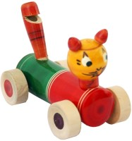 Villcart Whistle Car - Wooden Toy (Multicolor)