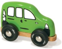 Vilac Push And Pull Baby Wood Toy, Station Wagon, Mini (Multicolor)