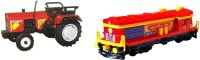 A R ENTERPRISES 2 Pack Combo Trector With Locomotive Enguine (Multicolor)