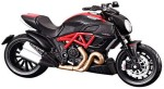 Maisto Cars, Trains & Bikes Maisto 1:18 Ducati Diavel Carbon Black Diecast Motorcycle
