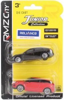 RMZ City Porsche Panamera And Range Rover Evoque Red And Black - Pack Of 2 (Red, Black)