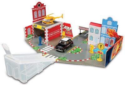 Bburago Cars, Trains & Bikes Bburago Street Fire Open and Play Set