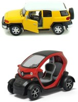 Kinsmart Renault Twizy And FJ Cruiser Mini Model (Multicolor)