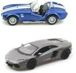 Kinsmart Cars, Trains & Bikes Kinsmart Ford Shelby Cobra and Lamborghini Aventador