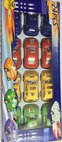 Globalgifts Set Of 24 Multi Color Cars (Red, Yellow)