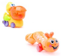 AV Shop Combo Of 2 Big Mouth Duck & Twisty Caterpillar Wind Up Toys (Multicolor)