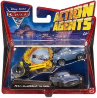 Disney Pixar Mattel Disney Pixar Cars 2 Action Agent With PIT Launcher V3016 (Multicolor)