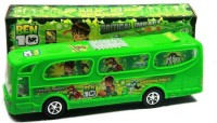 Turban Toys Ben10 Bus With Lights And Sound (Green)