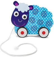 Imagination Generation Wooden Wonders Push-n-Pull Swirly Sheep Toy (Multicolor)