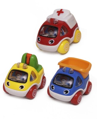 Smart Picks Pack Of 3 Fire Vehicles (Multicolor)