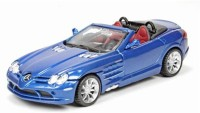 BBURAGO Mercedes Slr Mclaren Roadster - 1:32 Scale Diecast Model Car (Blue)