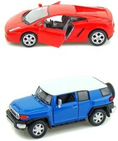Kinsmart Toyota Fj Cruiser And Lamborghini Gallardo Mini Model (Multicolor)