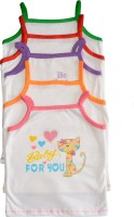 Myfaa Slip Baby Girl's Vest (Pack Of 5)