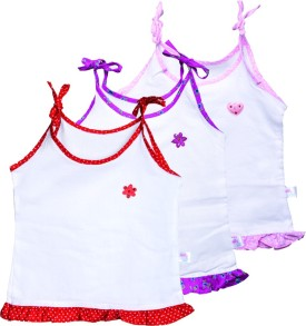 Knotty Kids Knot Jabla Baby Girl's Vest (Pack Of 3)