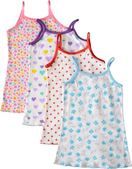 Myfaa Slip Baby Girl's Vest (Pack Of 4)