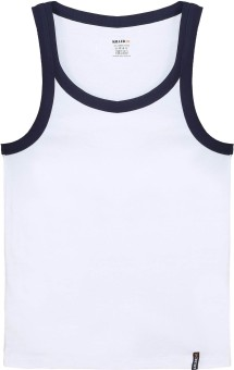 Killer White Solid Printed /Navy Blue Solid Printed Men's Vest