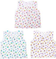 This N That Floral Jabla Set Of 3 Baby Girl's Vest (Pack Of 3)