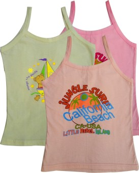 Lure Wear Colvest Baby Girl's Vest Pack Of 3