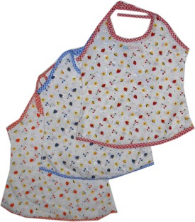 Bubbles Printed Colorful Jhabla For New Born (0-3 Months) Baby Girl's Vest Pack Of 3