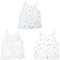This N That Little Hearts Printed Jabla Set Of 3 Baby Girl's Vest (Pack Of 3)