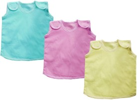 Cherish Maternity Velcro Baby Girl's Vest Pack Of 3