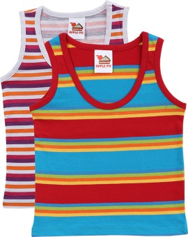 Apple Pie 1405SET103 Baby Girl's Vest (Pack Of 2)