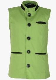 Cool Quotient Self Design Boy's Waistcoat