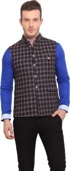 Ennoble Checkered Men's Waistcoat - WSCED7CNRJGYFYJZ
