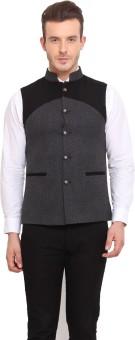 Ennoble Solid Men's Waistcoat - WSCED7CNBRZRTK6H