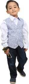 Fashion N Style Solid Boy's Waistcoat