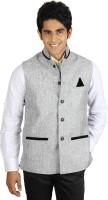 Platinum Studio Open Solid Men's Waistcoat - WSCDX6T85TMYWC65