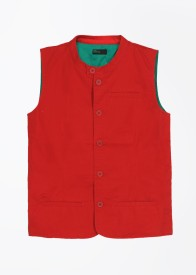 United Colors of Benetton Solid Boy's Waistcoat
