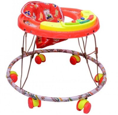 Kusum Enterprises Red Musical Tiger Baby Walker (Red)