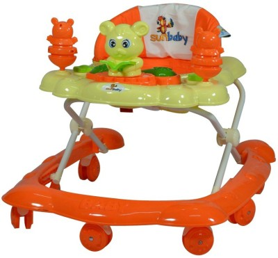 Sunbaby Naughty Bear Walker (Orange)
