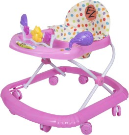 EZ' PLAYMATES BABY WALKER DARK PINK