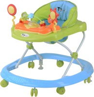 Toyhouse Teddy Baby Walker With Stopper (Blue, Green)