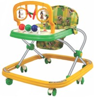 Spazio Baby Walker Musical, Colorful & Interactive With Hanging Toys (Yellow)