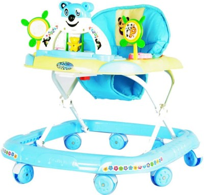 Panda Attractive Adjustable baby Walker With Handle (Blue)