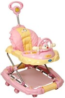 Baby Bucket Musical Baby Walker Cum Rocker With Toy Rabbit (Pink)